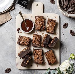 Brownies clásicos con Chocolate 70% cacao