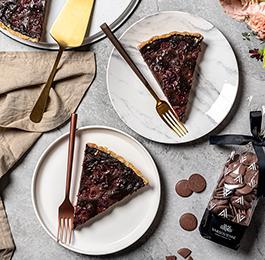 Tarta de Chocolate 40% Cacao y Frambuesa